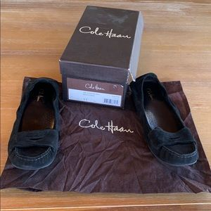 Cole Haan Air Candyce Moc in Black Suede